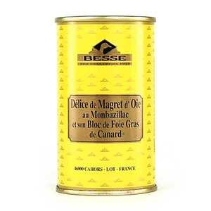 Foie gras GA BESSE - Délice de magret d'oie - Monbazillac et bloc de foie gras de canard