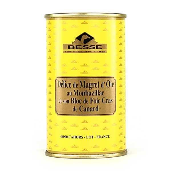 Délice de magret d'oie - Monbazillac et bloc de foie gras de canard