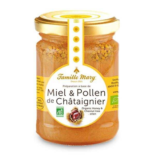 Miel et pollen de châtaignier bio