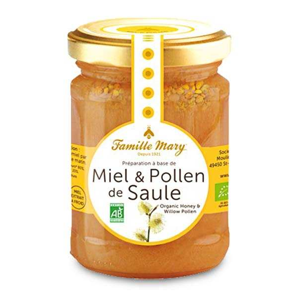 Organic Honey and Willow Pollen