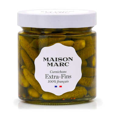 French Extra fine gherkins in vinegar