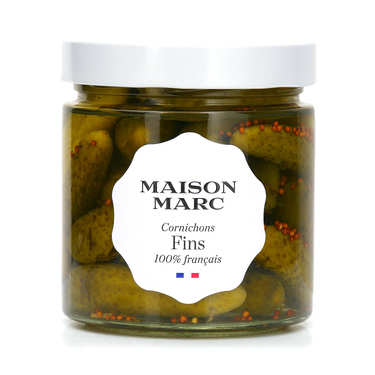 French Fine gherkins in vinegar