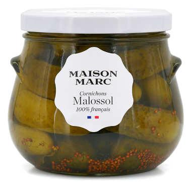 French Malossol gherkins in vinegar