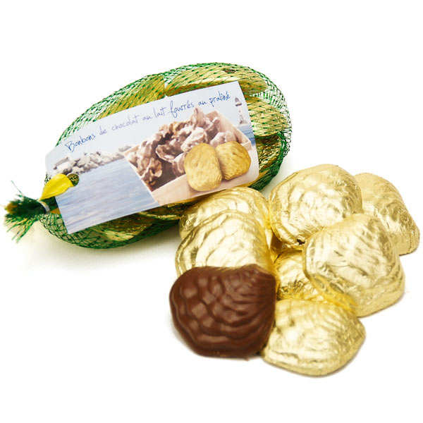 Oyster Net in Praliné and Milk Chocolate