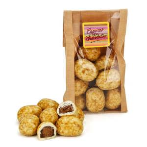 Les Caprices du Chocolatier - Pommes de terre en praliné enrobé de chocolat blanc