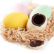 Venchi - Boîte à oeufs de Pâques - 4 oeufs en chocolat colorés