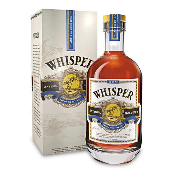 Rhum ambré Whisper d'Antigua 40%