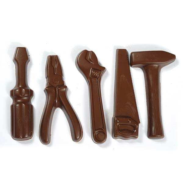 Mini outils en chocolat au lait