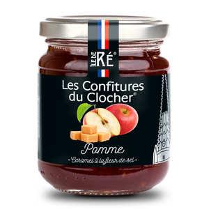Les Confitures du Clocher - Confiture extra de pomme, caramel à la fleur de sel