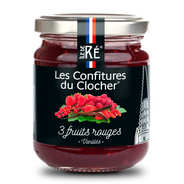 Les Confitures du Clocher - 3 Red Fruit Jam with Vanilla