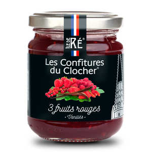 Les Confitures du Clocher - Confiture extra aux 3 fruits rouges vanillés