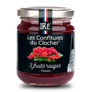 Les Confitures du Clocher - Confiture extra aux 3 fruits rouges vanillés