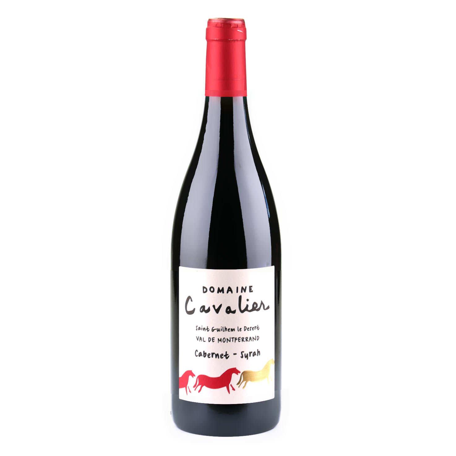 Organic Domaine Cavalier red wine, IGP St Guilhem le désert - 13,5%