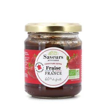 Saveurs Attitudes - Confiture extra de fraises d'Aquitaine bio
