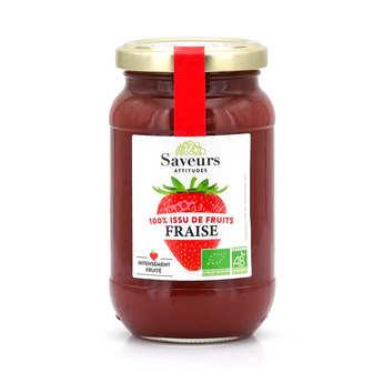 Saveurs Attitudes - Confiture de fraise bio sans sucre ajouté