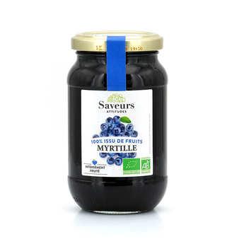 Saveurs Attitudes - Confiture de myrtille sauvage bio sans sucre ajouté