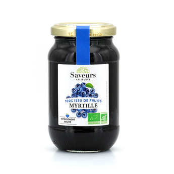 Saveurs Attitudes - Organic Wild Blueberry Jam no added sugar