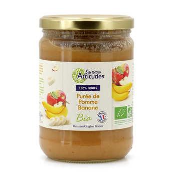 Saveurs Attitudes - Purée de pomme banane bio