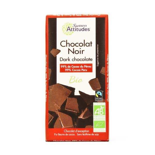 Chocolat noir bio équitable 99%