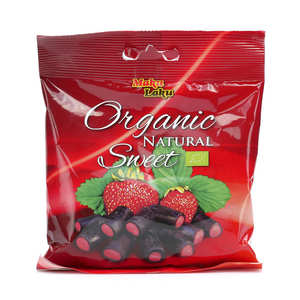 Makulaku - Bonbon de réglisse à la fraise bio