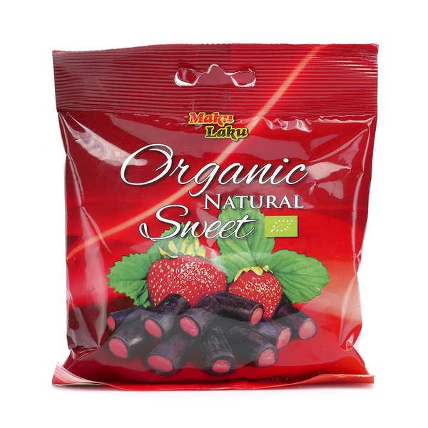 Bonbon de réglisse à la fraise bio