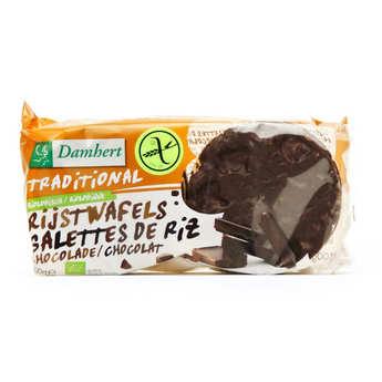 Damhert - Galettes de riz au chocolat noir bio sans gluten