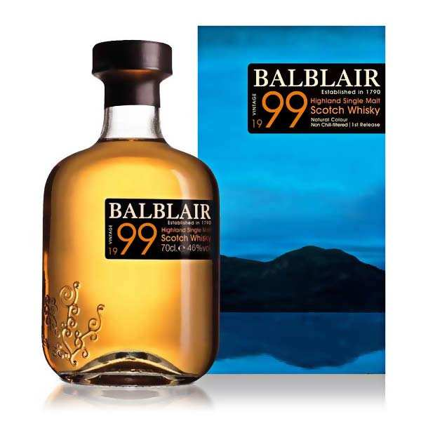 Balblair single malt scotch whisky 1999 - 46%