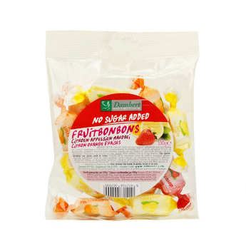 Damhert - Bonbons tendres aux fruits sans sucre fraise, citron et orange