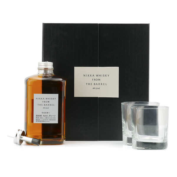 Nikka From The Barrel Gift Box 2 shot glasses and measurer