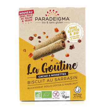 Paradeigma - Organic Chcoolate and Hazelnut biscuit Gluten free