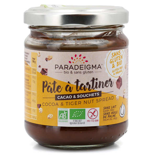 Organic Tiger nut and Cocoa Spread Gluten Free