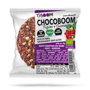 Tiboom - Chocoboom barre énergétique bio guarana et figues - sans gluten