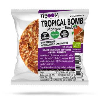Tiboom - Tropical Bomb barre énergétique bio baobab et mangue - sans gluten