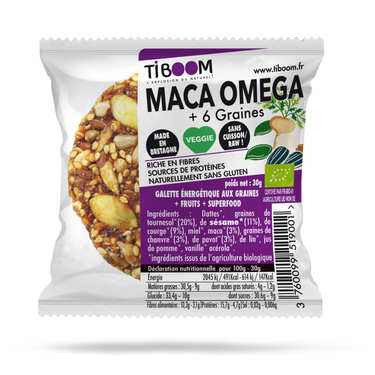 Organic Maca superfruit bar Gluten fruit