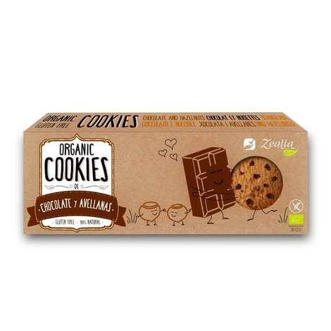 Zealia - Organic Hazelnut and chocolate Cookies Gluten Free