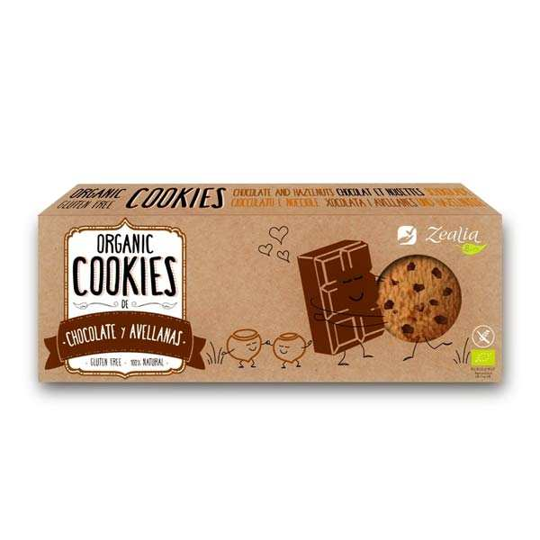 Organic Hazelnut and chocolate Cookies Gluten Free