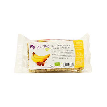 Barre de céréales bio bananes et noisettes sans gluten