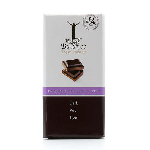Chocolat noir sans sucre au maltitol - tablette 100g