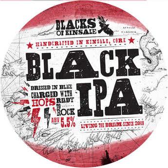 Brasserie Black of Kinsale - Blacks black IPA - Irish Beer - 5%