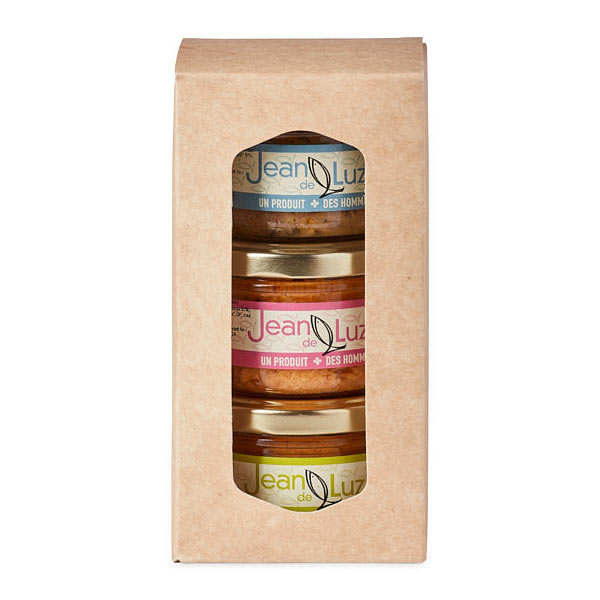 Assortiment de terrines de la mer du pays basque - les 3 verrines de 85g