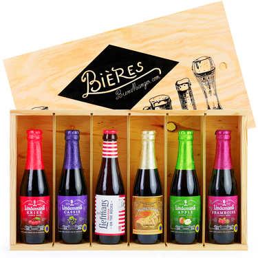 Caisse bois de 6 bières belges fruitées