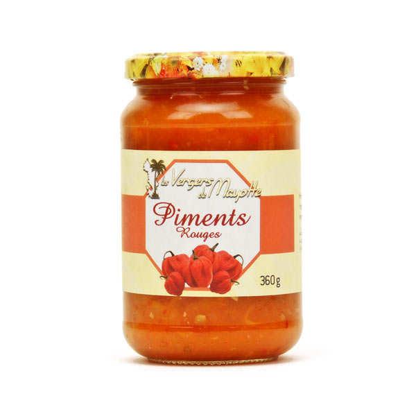 Purée de piments rouges forts de Mayotte