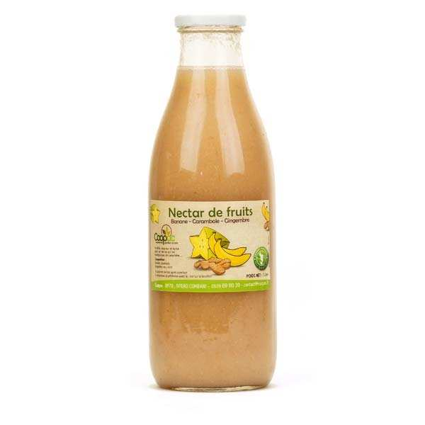 Nectar de banane, carambole et gingembre de Mayotte