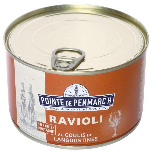 Raviolis de thon au coulis de langoustine