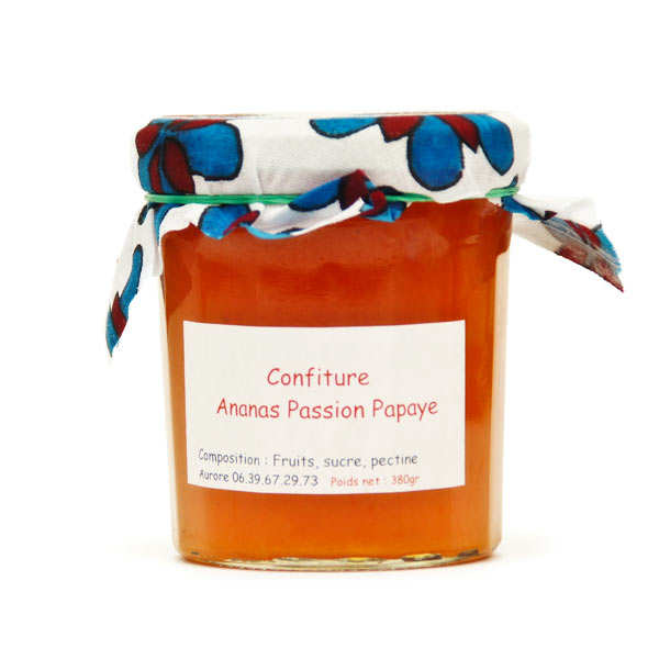 Confiture ananas, passion et papaye de Mayotte