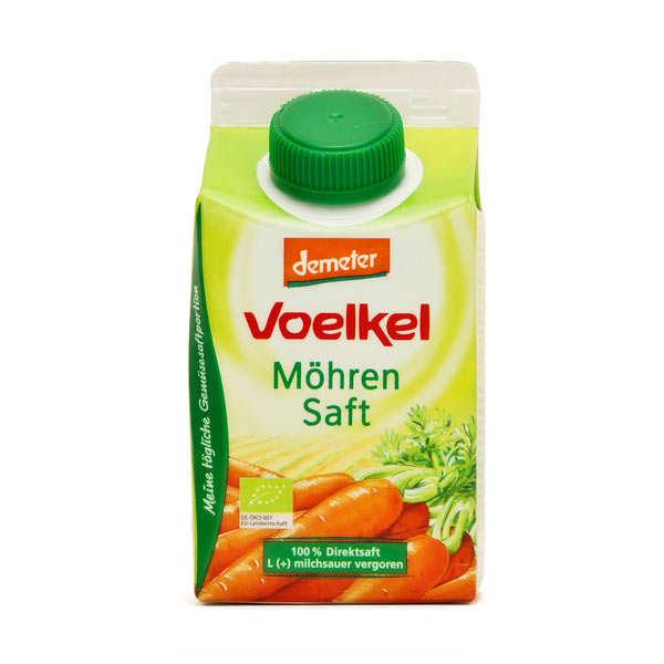 Jus de carotte lacto fermenté bio