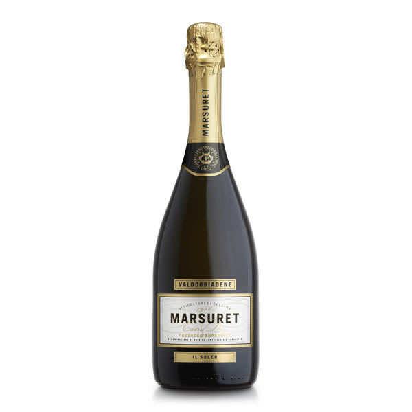 Prosecco di valdobbia docg extra dry il soler - vin pétillant italien - 11,5% - bouteille 75cl