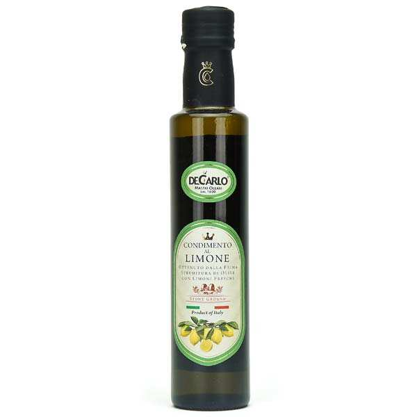 Huile d'olive extra vierge au citron frais