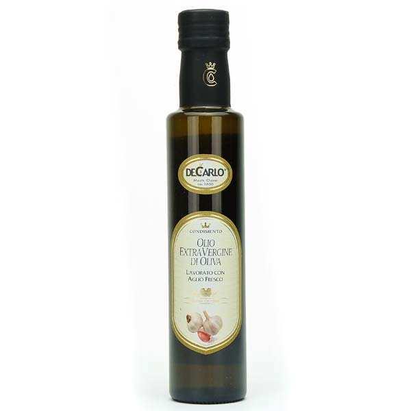 Huile d'olive extra vierge à l'ail frais