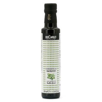 De Carlo - Huile d'olive extra vierge au basilic frais